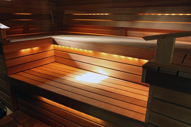 Светильники для бани на основе оптоволокна